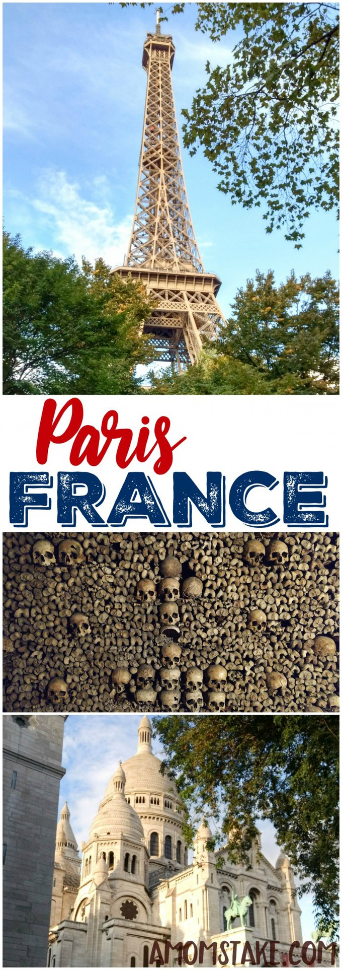 End your incredible western europe road trip in Paris, France to see the Eiffel tower, Catacombs, Sacre Couer and more! #Travel #trip #destination #vacation #Paris #France #Europe #ParisFrance