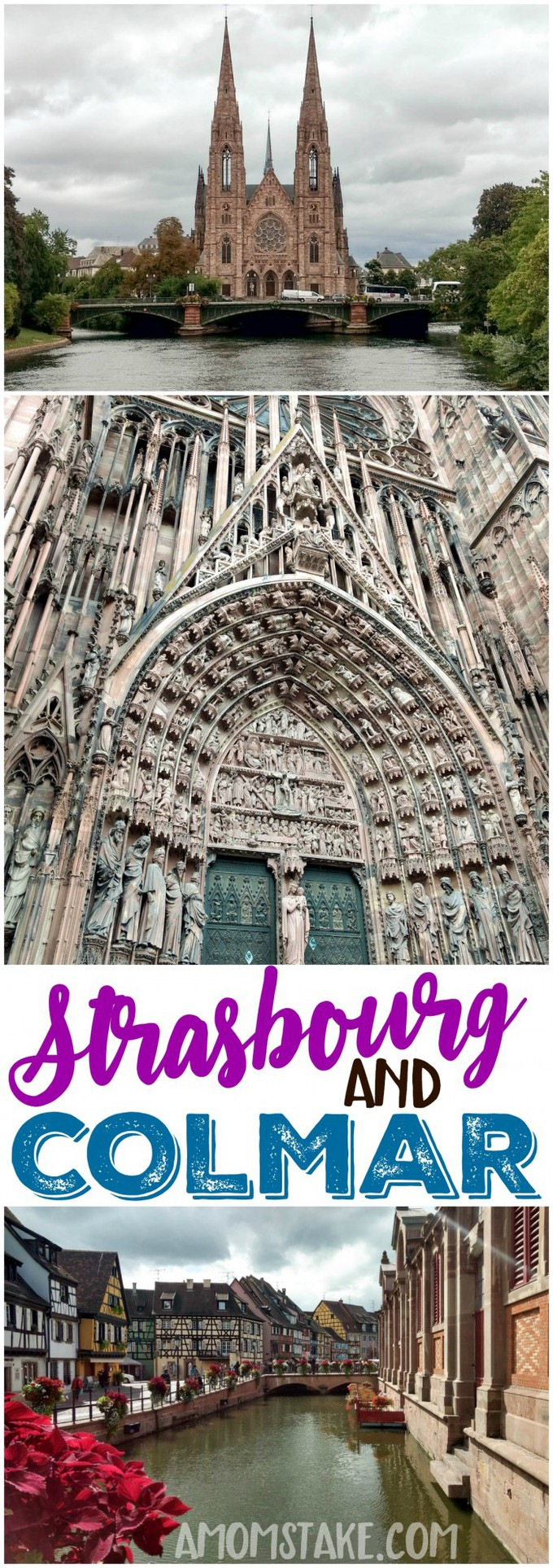 The 2nd day of our Western Europe road trip took us through Strasbourg and Colmar France to see these beautiful and unique cities. Road trip Europe! #travel #trip #roadtrip #vacation #europe #france