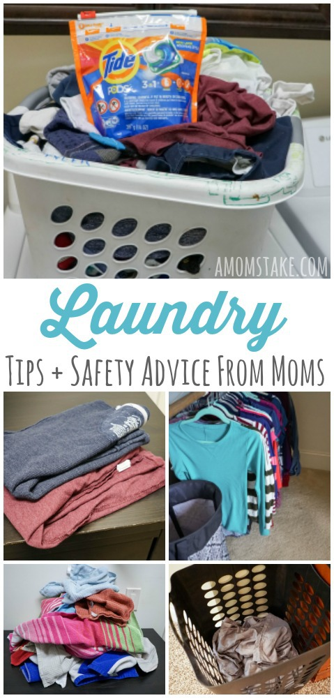 Top 10 laundry tips and tricks advice and ideas from moms! Plus, a safety checklist and quiz!