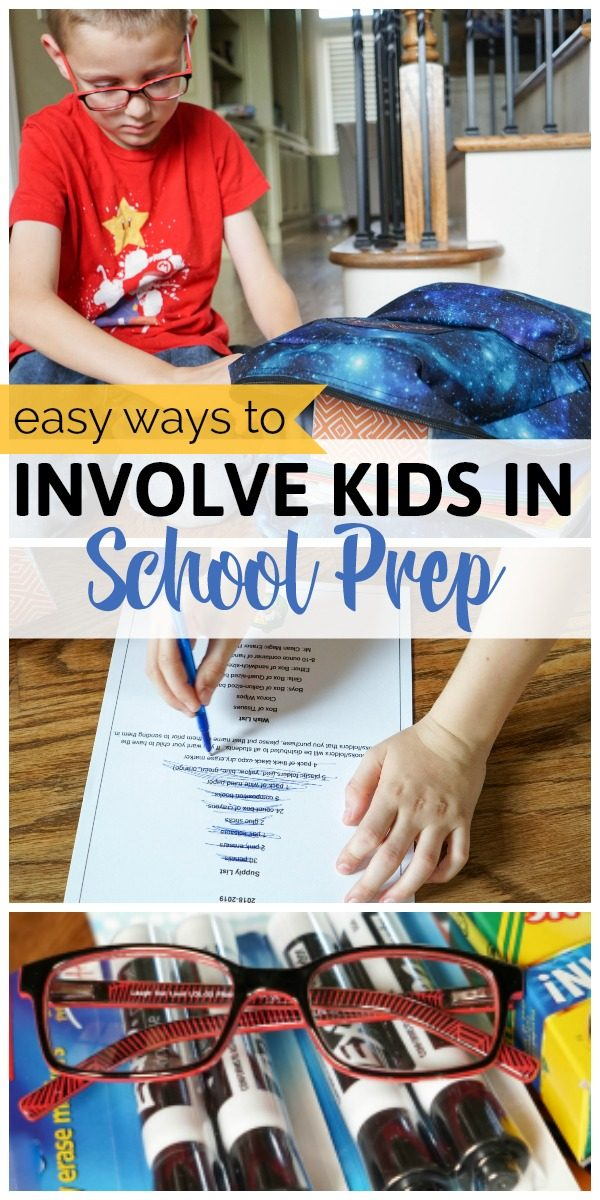 Easy ways to get the kids involved with the back to school prep - from shopping to organizing and more! #backtoschool #JCPenneyoptical #glassesforclasses #AllAtJCP
