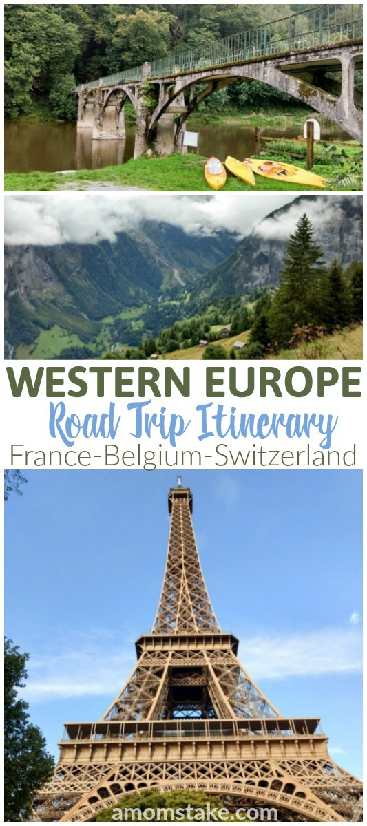 Western Europe Road Trip Itinerary - See this 9 day travel log that's easy to follow to take you through Belgium, Luxembourg, Switzerland, and to Paris France! #travel #roadtrip #europe #paris