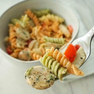 20 Minute Sausage Pepper Pasta Recipe