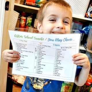 Easy After School Snacks Ideas & Printable List