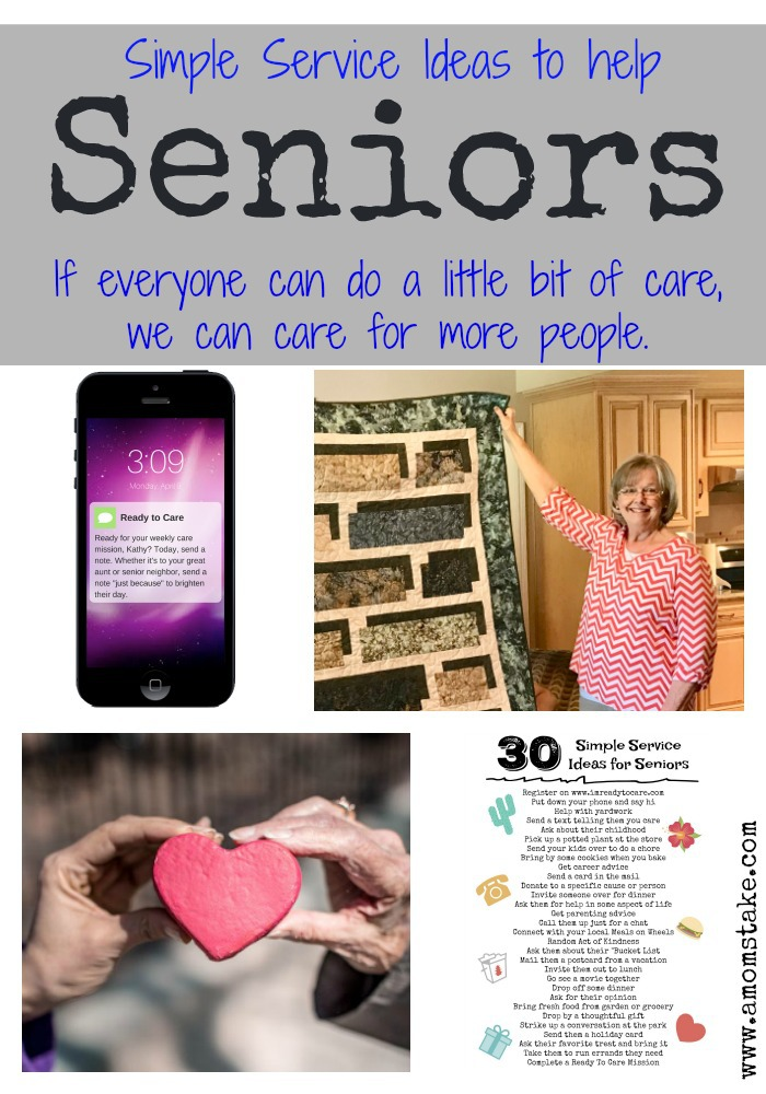 Check out these great ideas on how to offer easy service to seniors plus the Ready to Care Movement #AD