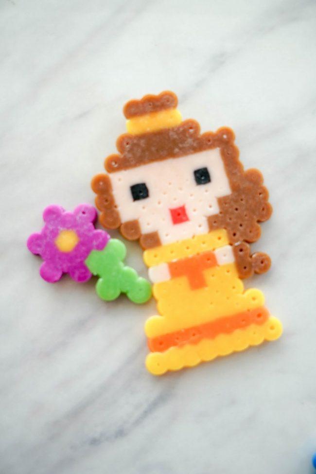 belle perler bead pattern and flower