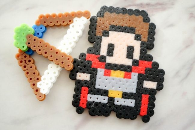 perler bead hero solider pattern with bow and arrow
