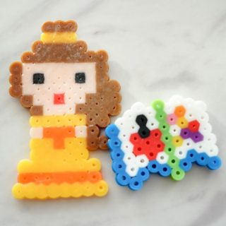 perler bead belle and magic book patterns