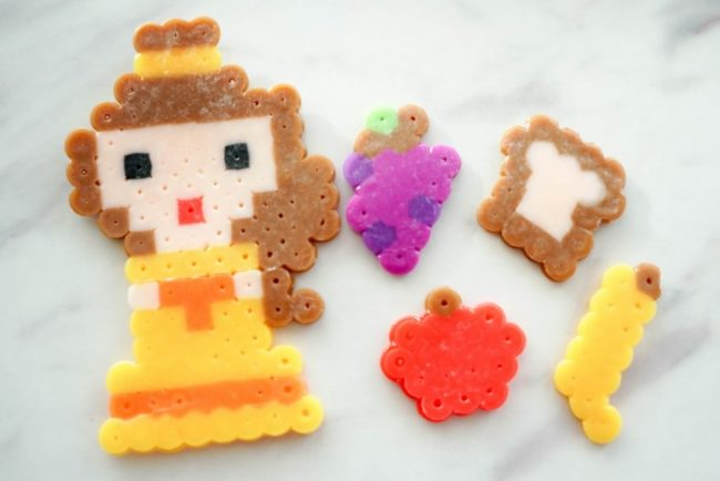Belle perler bead pattern and play food