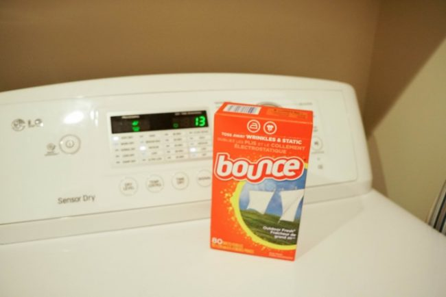 bounce dryer sheets on top of dryer