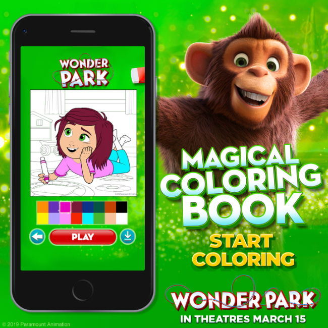 Wonder Park App Coloring Book