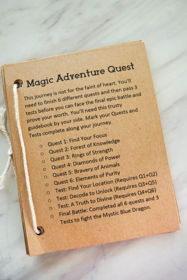 Magic Adventure Printable MagiQuest Game