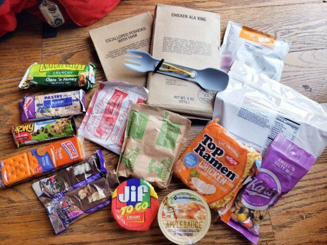 72 hour kit food ideas