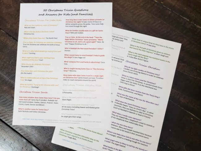 printable christmas trivia 50 questions and answers